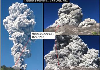 Des images des explosions récentes du Merapi !