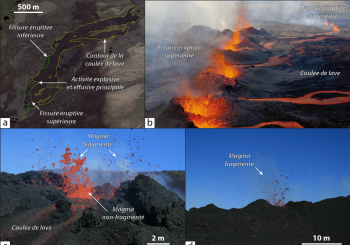 Magma fragmentation and particle size distributions in low intensity mafic explosions