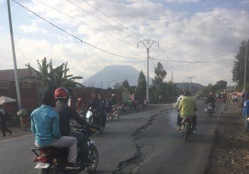 Guillaume Boudoire en mission sur le volcan Nyiragongo