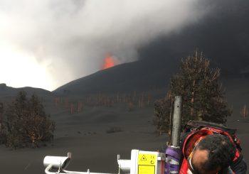 Etude de l'éruption volcanique à la Palma, Canaries